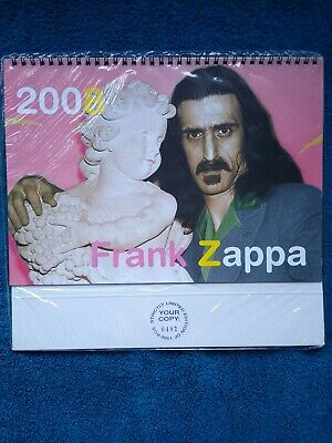 Frank Zappa Calender 2008. Limited Edition 0402 Of 1000. Still In Wrapper. New • 19.95£