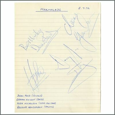 Marmalade 1972 Autographs (UK) • 137.50£