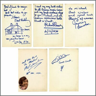 Noel Redding Late 1970 Fat Mattress Autographs (Germany) • 545£