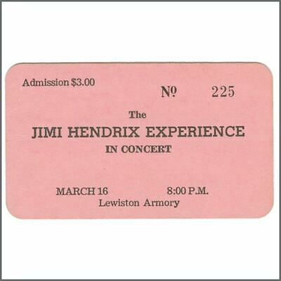 Jimi Hendrix Experience 1968 Lewiston Maine Concert Ticket (USA) • 660£