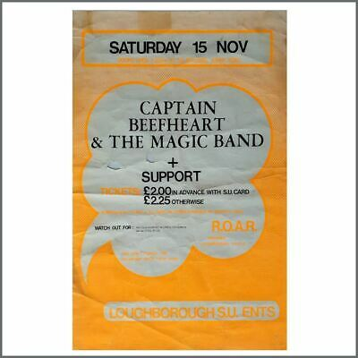 Captain Beefheart 1980 Loughborough Student Union Concert Poster (UK) • 325£