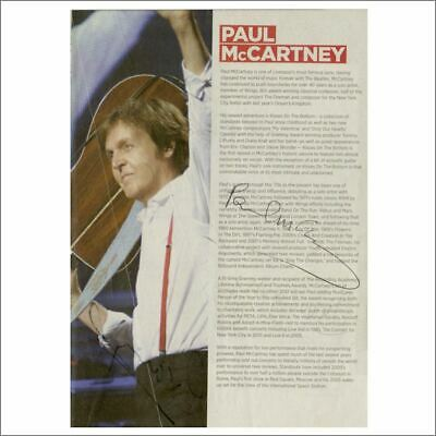 Paul McCartney & Others 2012 Autographed Teenage Cancer Trust Concert Programme • 660£
