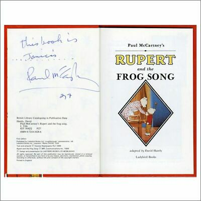 Paul McCartney 1987 Autographed Rupert & The Frog Song Book (UK) • 1,095£