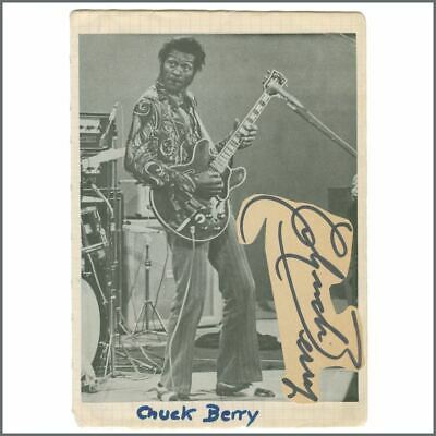 Chuck Berry 1970s Autograph (Germany) • 220£