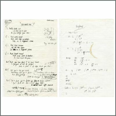 Paul Weller 1998 And Worlds End (With Time & Temperance) Handwritten Lyrics (UK) • 1,320£