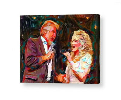 Framed Dolly Parton Kenny Rodgers Abstract 9X11 Art Print Lim Ed W/signed COA • 14.81£