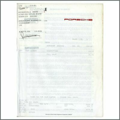 Peter Grant 95 Signed American Express Receipt For Bad 1 Porsche Service (UK) • 325£