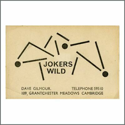 Dave Gilmour 1960s Jokers Wild Cambridge Business Card (UK) • 715£