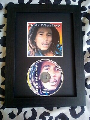 Bob Marley Original CD Album & Sleeve Mounted & Framed A4 • 21.99£