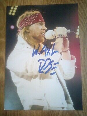 Axl Rose / Guns N' Roses Signed Photograph Repro/Reprint A4 Print  • 4.99£
