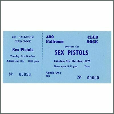 The Sex Pistols 1976 Anarchy In The UK Torquay Unused Concert Ticket (UK) • 660£