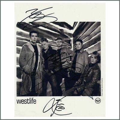 Westlife 1990s Autographed RCA Records Promotional Photograph (UK) • 55£