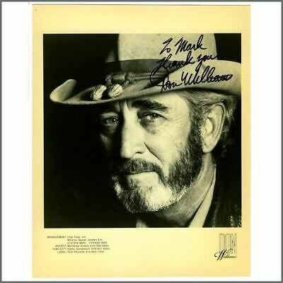 Don Williams Autographed Promotional Photograph • 27.50£