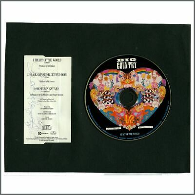 Big Country Autographed Heart Of The World CD Insert & CD (UK) • 110£
