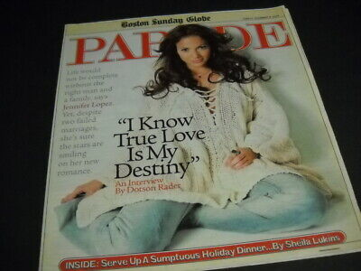 JENNIFER LOPEZ 2002 Parade I KNOW TRUE LOVE IS MY IDENTITY Cover And Feature • 4.44£