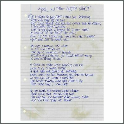 Noel Gallagher Oasis Girl In A Dirty Shirt Handwritten Lyrics (UK) • 1,650£