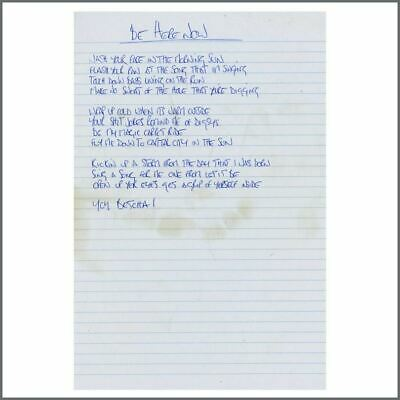 Noel Gallagher Oasis Be Here Now Handwritten Lyrics (UK) • 1,650£