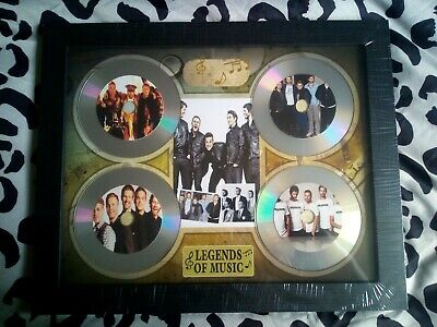 Take That / Robbie 4 X CD Picture Disc Montage In Black Frame *NEW AND SEALED* • 24.99£