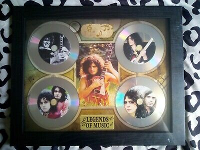 Marc Bolan / T-Rex 4 X CD Picture Disc Montage In Black Frame *NEW AND SEALED* • 24.99£