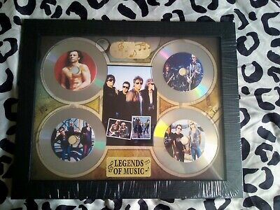 Bon Jovi 4 X CD Picture Disc Montage In Black Frame *NEW AND SEALED* • 24.99£