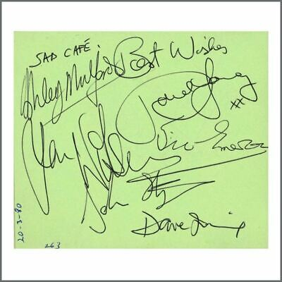 Sad Cafe 1980 Signatures On Autograph Book Page (UK) • 110£