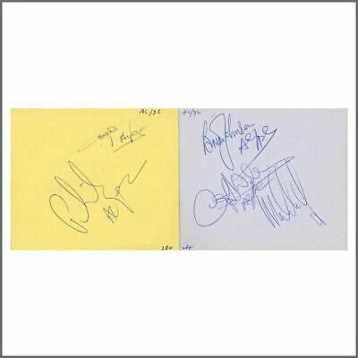 AC/DC 1980s Signatures On Autograph Book Pages (UK) • 655£