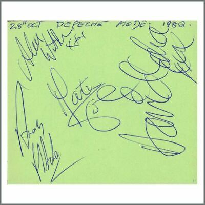 Depeche Mode 1982 Signatures On Autograph Book Page (UK) • 275£