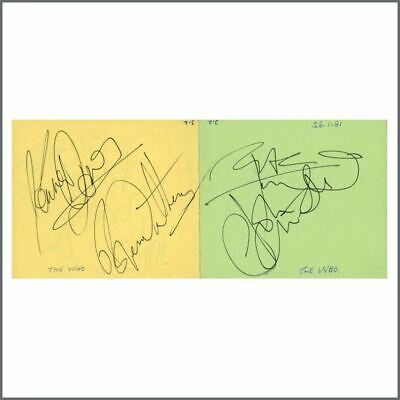 The Who 1981 Signatures On Adjoining Autograph Book Pages (UK) • 765£