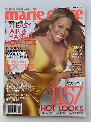 **mariah Carey Usa Marie Claire Magazine March 2006 - Excellent Condition** • 39.99£