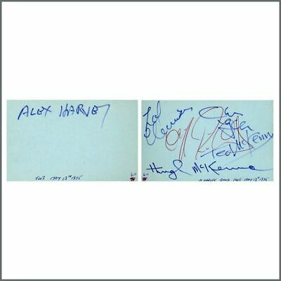 Sensational Alex Harvey Band 1975 Signatures Autograph Book Adjoining Pages (UK) • 275£