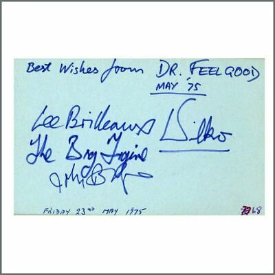 Dr Feelgood 1975 Signatures Autograph Book Page (UK) • 385£