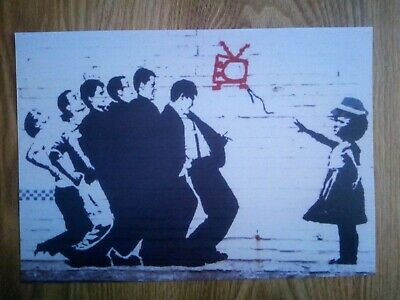 Madness Banksy Style Picture Repro/Reprint A4 Print *RARE* • 6.99£