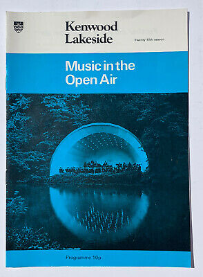*music In The Open Air New Philharmonic Orchestra Kenwood House Programme 1975* • 14.99£
