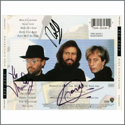 The Bee Gees Autographed CD Sleeve (USA) • 275£