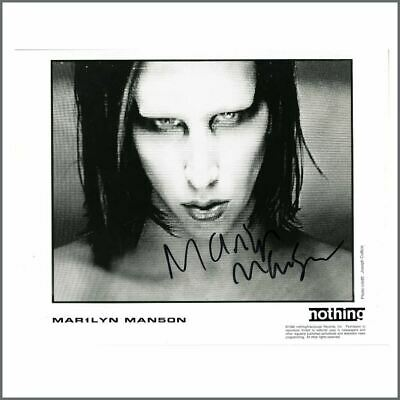 Marilyn Manson Autographed Promotional Photograph • 165£