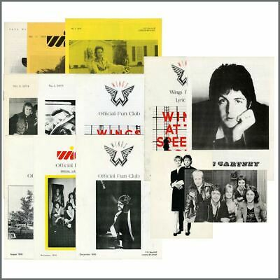 Paul McCartney & Wings Fun Club 1970s Newsletter Collection (UK) • 305£