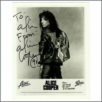 Alice Cooper Autographed Promotional Photograph • 165£