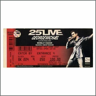 George Michael 2007 25 Live Unused Concert Ticket (UK) • 27.50£
