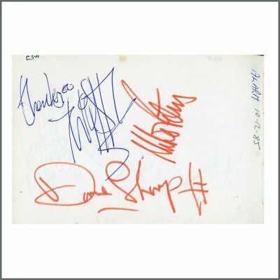 The Alarm 1985 Signatures On Autograph Book Page (UK) • 165£