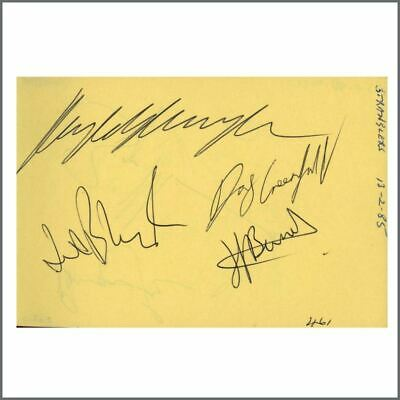The Stranglers/The Damned 1985 Signatures On Autograph Book Pages (UK) • 385£