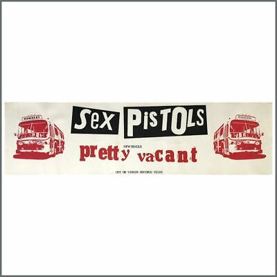 Sex Pistols 1977 Pretty Vacant Promotional Poster (UK) • 440£