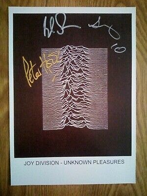 Joy Division / Unknown Pleasures Signed Music Poster Repro/Reprint A4 Print  • 14.99£