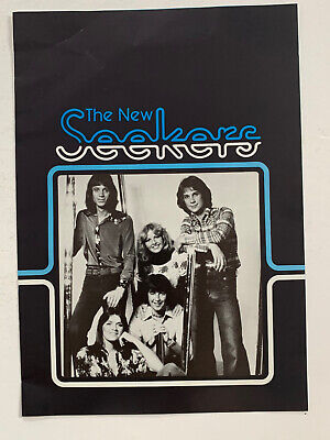 **THE NEW SEEKERS UK VINTAGE MUSIC PROMOTIONAL BOOKLET 1970s (EUROVISION)** • 39.99£