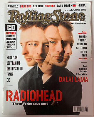 *radiohead Thom Yorke / Destinys Child German Rolling Stone Magazine June 2001* • 17.99£