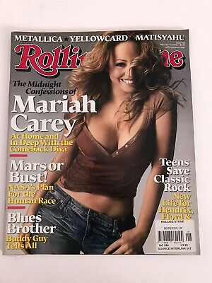 **mariah Carey Rolling Stone Music Magazine February 2006 Excellent Condition** • 49.99£