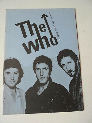 THE WHO Magazine Fanzine #1 June 1979 Townshend Daltrey FIRST ISSUE RARE • 9.99£