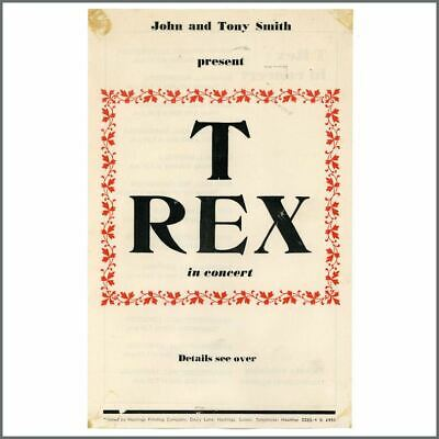 T Rex 1971 Tour Handbill (UK) • 105£
