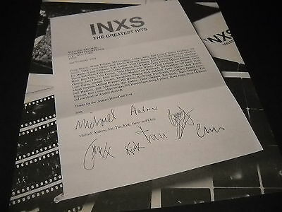 INXS 1994 Desk Letter Style PROMO DISPLAY AD With Faux First Name Signatures • 7.90£