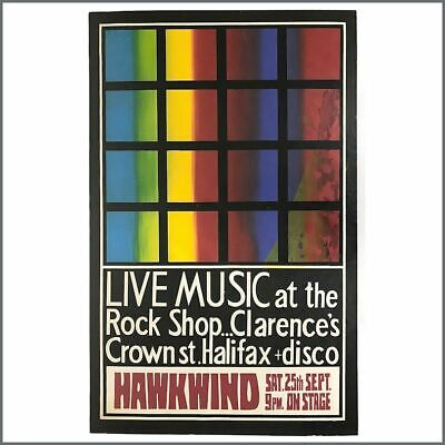 Hawkwind 1970 Clarence's Halifax Concert Poster (UK) • 325£