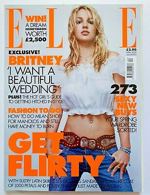 **britney Spears Uk Elle Magazine April 2002 Great Condition** • 24.99£